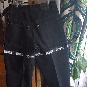 Vintage Hugo Boss black label jeans logos